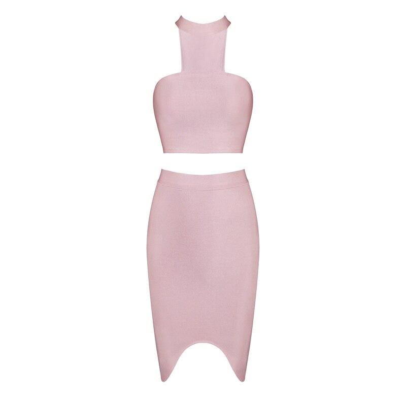 HTB11QXTKxSYBuNjSspjq6x73VXa8 - 2018 Sexy Women Clothing Club Party 2 Piece Sets Fashion Bandage Dress Strapless Short Crop Top Patchwork Knee-Length Skirts
