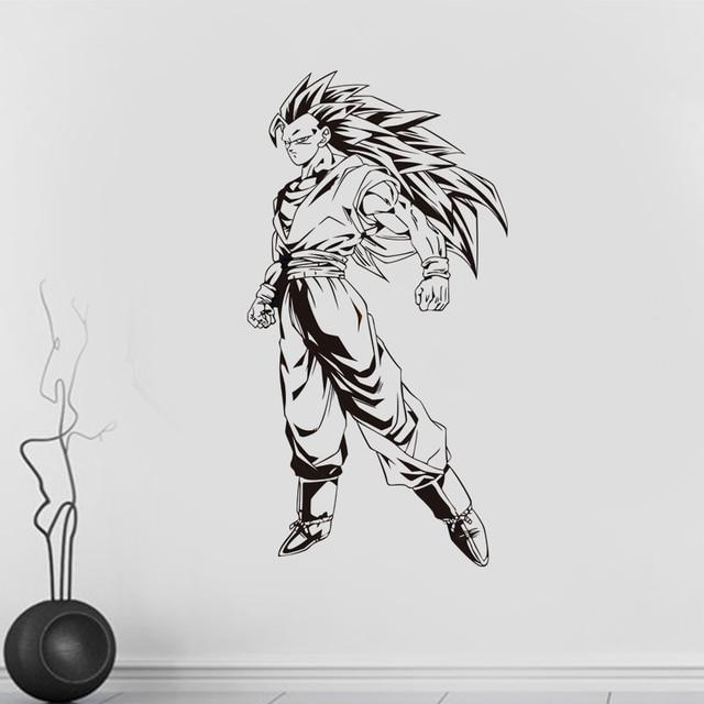 novo desenho animado dragon ball super saiyan decalque da parede do