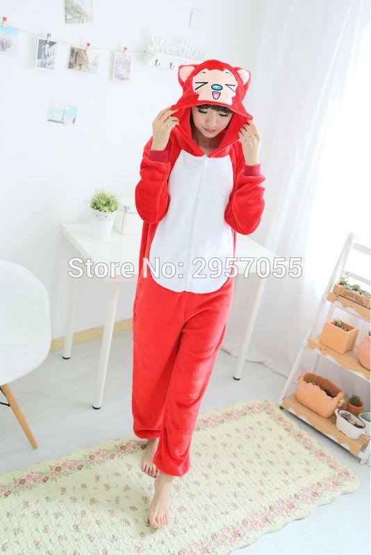 New Unisex Adult Flannel Pajamas Animal Pyjama Suits Cosplay Adult Winter Garment Cute Cartoon Animal Pajama Beaver