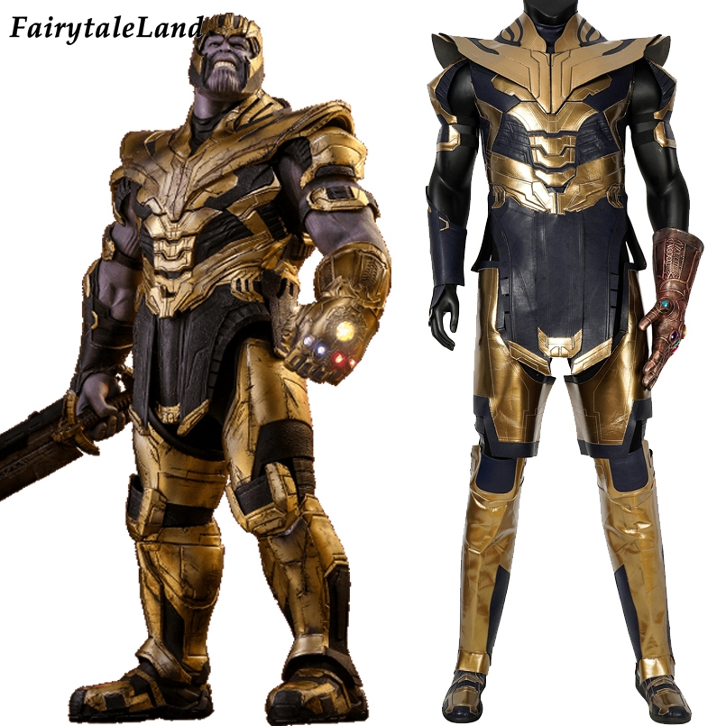 Avengers Endgame Thanos Costume Halloween Costumes Fancy Outfit Cosplay Avengers 4 Suit With Helmet