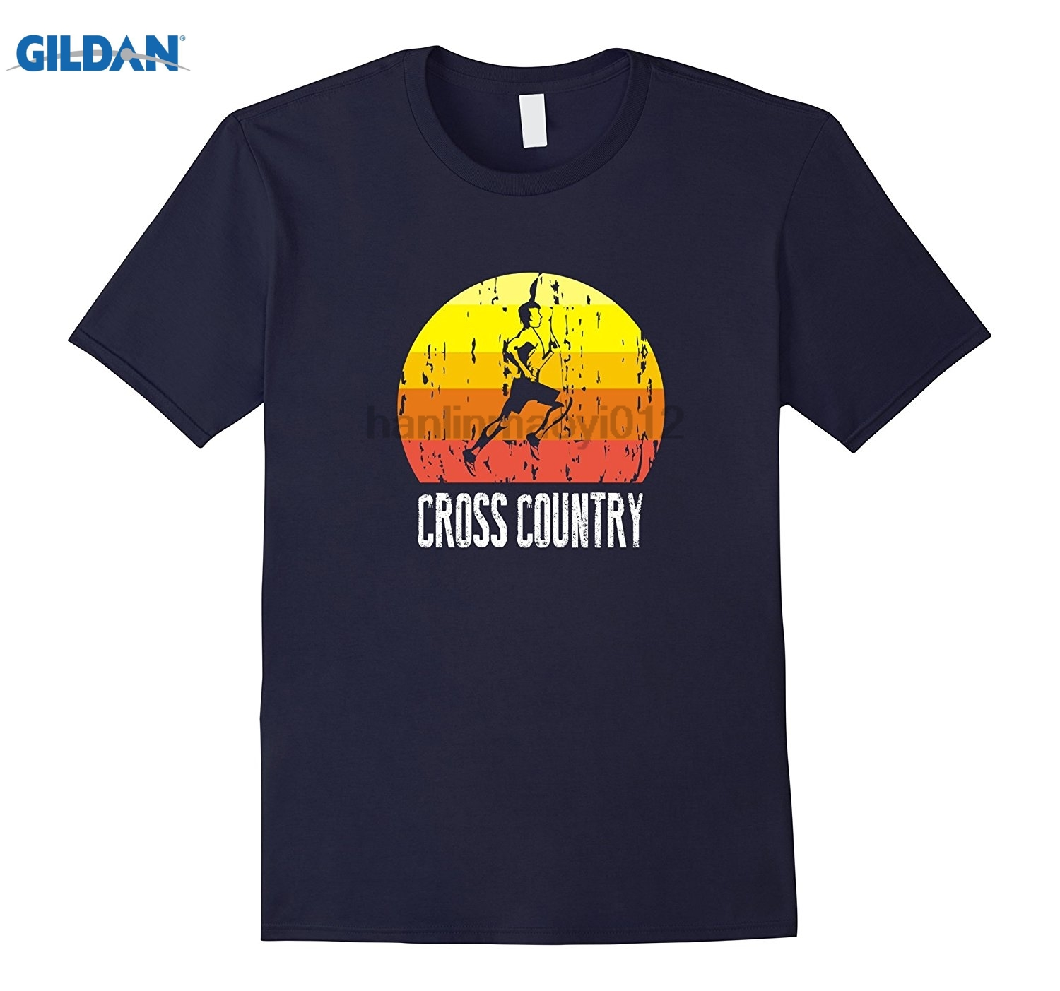 GILDAN Retro Distressed Cross Country T-Shirt For Runners sunglasses women T-shirt