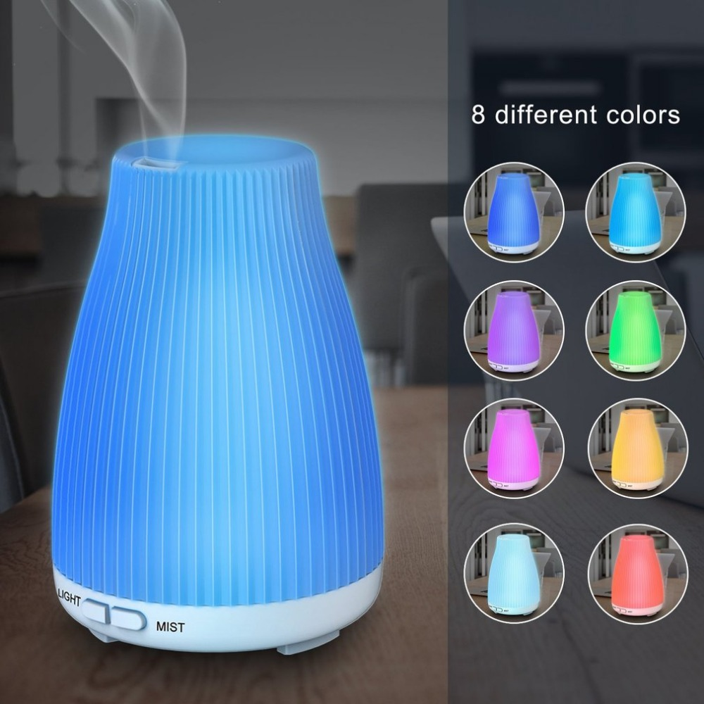 Ultrasonic 100ML V-100S Home Office Air Humidifier Essential Oil Aroma Diffuser Colorful Night Light Mist Maker Diffuser