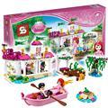 265 unids sy322 ariels beso mágico serie princesa palace building blocks ladrillo barcos niñas juguetes compatible con lego