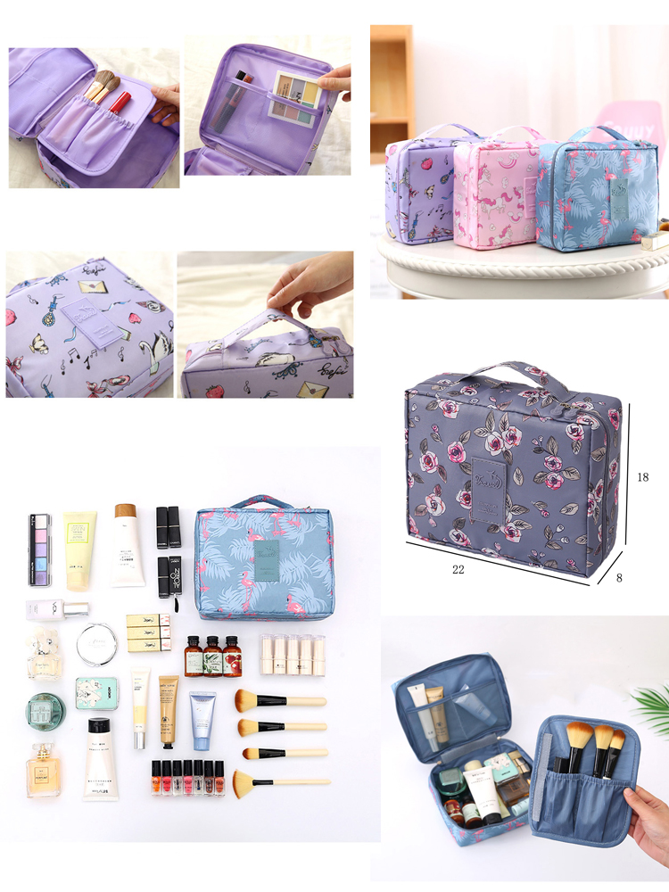 Cosmetic-Bag Toiletries-Organizer Nylon Travel Multifunction Waterproof Portable Women