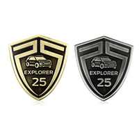 For EXPLORER 25th Anniversary Limited Car Logo Body Sticker Tail Shield Emblem Badge Decals Auto Accessories