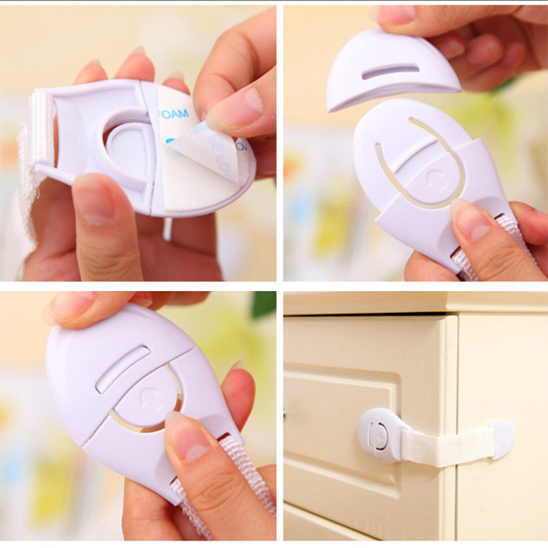 Baby Safety Locks Kids Toddler Safety Fridge Drawer Door Cabinet Cupboard Security Locks Safety Locks Protection Care in Furniture Accessories from Furniture
