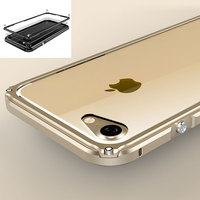 For IPhone 7 Metal Bumper Case Shockproof Luxury Hard Aluminum Frame PC Back Case Full Cover