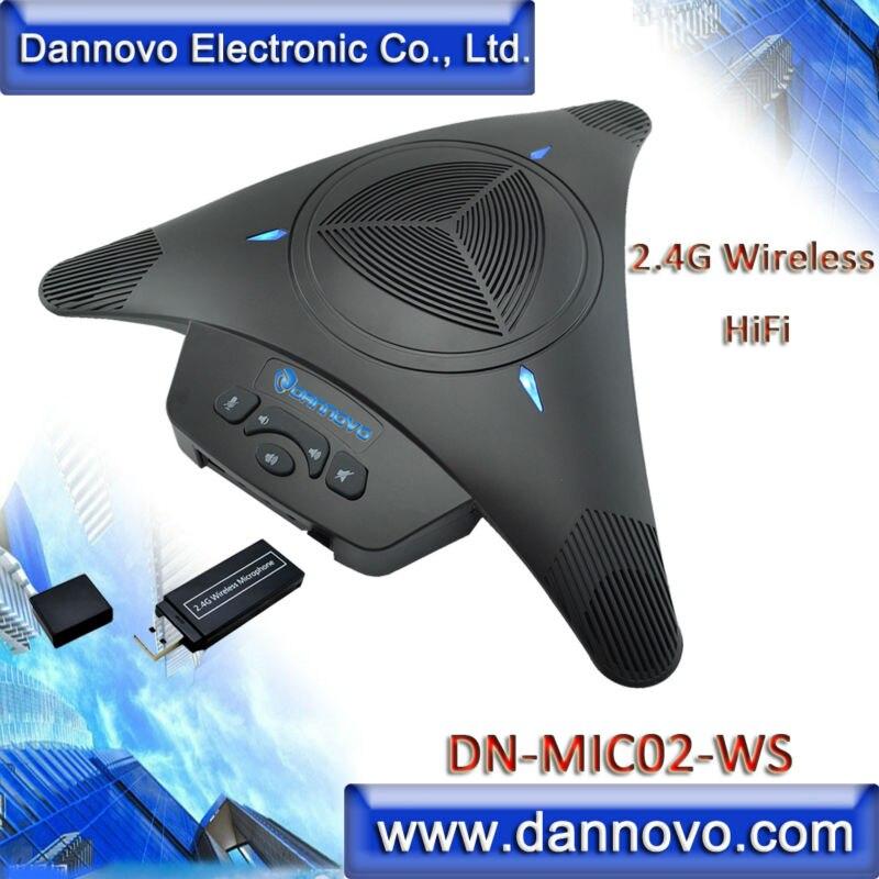 DANNOVO Wireless Microphone Speakerphone for Video Conferencing,Built-in Li-Battery,for Windows,MAC,Skype,Lync