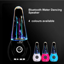 Wi-fi Bluetooth Water Dancing Speaker Moveable Colourful LED FM TF card Fountain Subwoofer For Iphone Android telephone Laptop