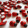 300pcs/lot,13x9mm,Wooden ladybug stickers,Sponge stickers,Easter decoration,Home decoration,Kids toys.Promotion cheap.
