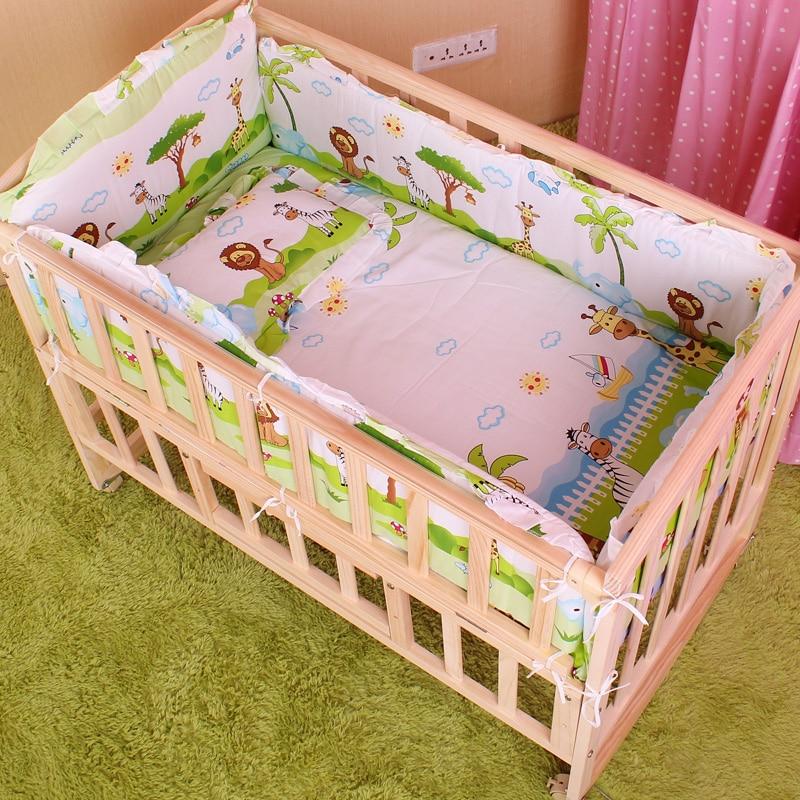 5PCS Newborn Baby Bedding Set Baby Crib Bedding Set With Bumper Baby Crib Bumper Baby Cot