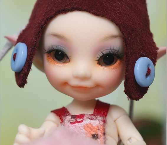 Бесплатная доставка 1/12 bjd кукла Toki нормальный цвет