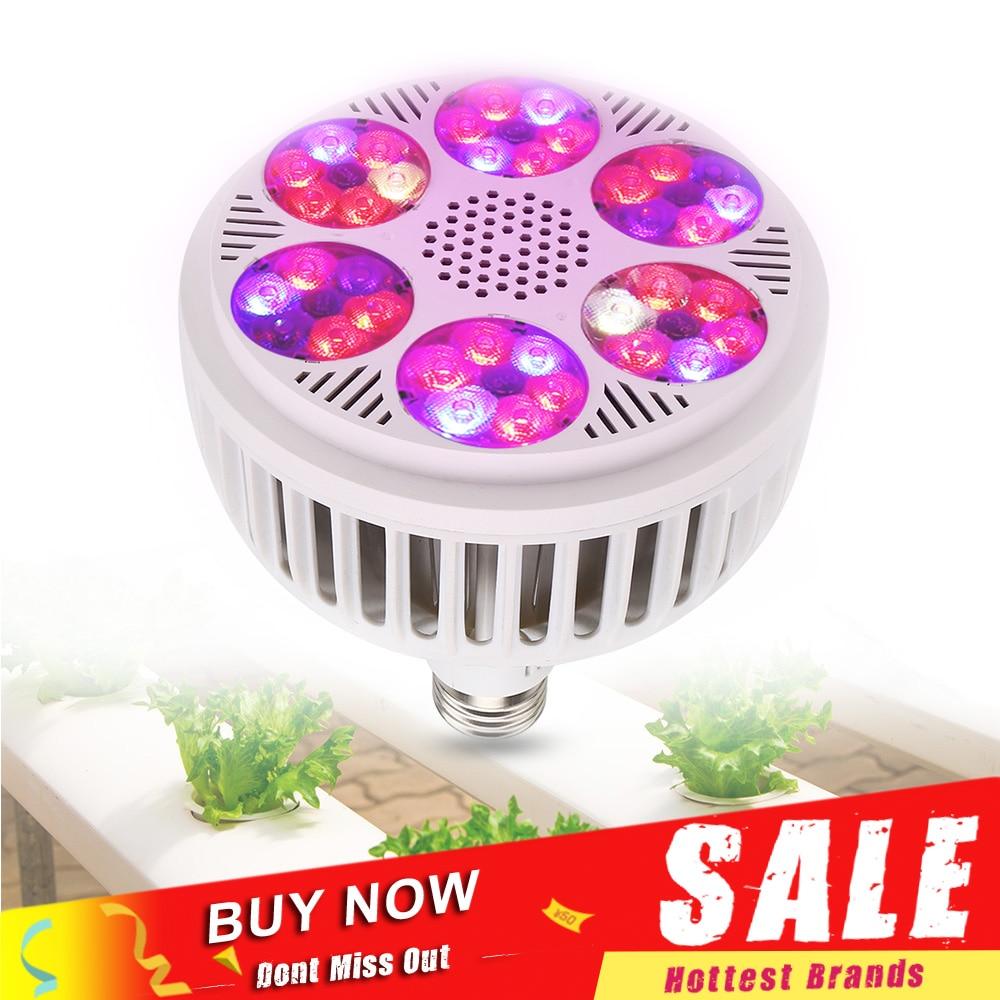 Le plus récent 120W E27 LED élèvent la lumière 85-265V Led lampe de croissance les plantes poussent lampoule hydroponique dintérieur serre légumes fleur lumière