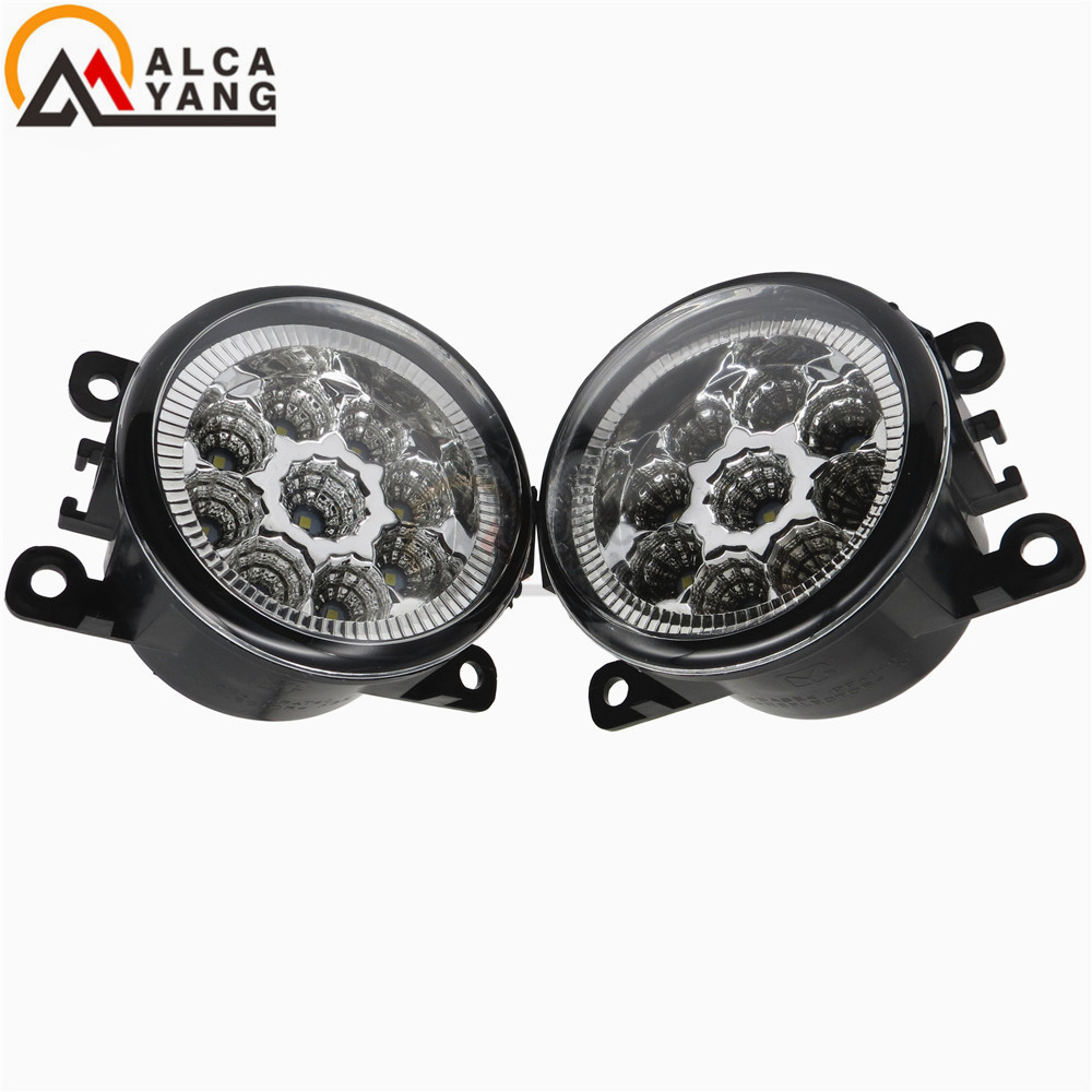 Malcayang angel eyes 6000K For Renault MEGANE 2 estate 2002-2015 Front Fog Lamps Fog Lights LED Halogen Car Styling 2 pcs set car styling 6000k ccc 12v 55w drl fog lamps lighting for renault megane 2 estate 2002 2015 35500 63j02