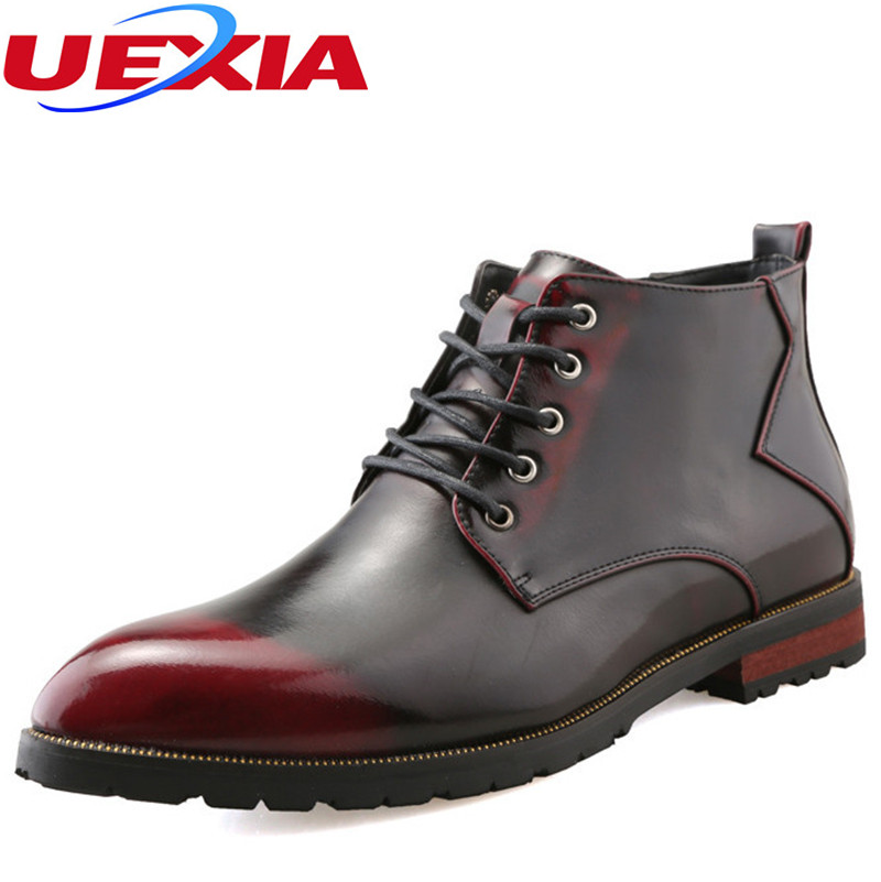 Men Boots Leather Ankle Black Brown Luxury Designer Dress Boots Pointed Toe fashion classic wedding business office formal male
