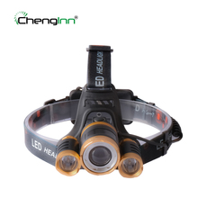 Chenglnn waterproof led headlamp Cree XML T6 rechargeable headlight frontal head light fishing hunting flashlight Zoomble lamp powerful 12000 lumen 3 cree xml l2 headlamp headlight head lamp light flashlight rechargeable lantern fishing hunting lights