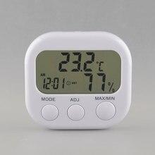 Цифровой ЖК-термометр измеритель влажности гигрометр Температура воздуха Часы TA638 белый Прямая поставка инструмент