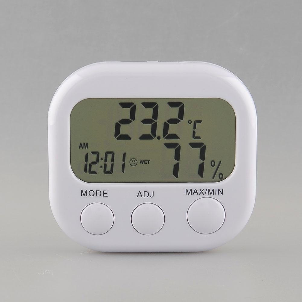 Vorsichtig Neue Digitale Lcd Thermometer Feuchtigkeit Meter Hygrometer Luft Temperatur Uhr Ta638 Weiße Tropfen Verschiffen Werkzeug Werkzeuge Analysatoren