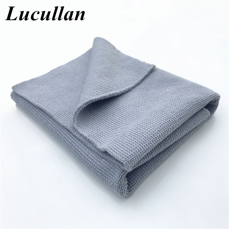 Lucullan Made In Korea Microfiber Towel Edgeless Pearl Premium 30/70 Blend Ultra Soft For Polishing,Waxing,Ceramic Coating