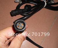 4 4-жильный водонепроницаемый разъем мужчина с длиной кабеля 2 м; черного цвета; 15 мм диаметр