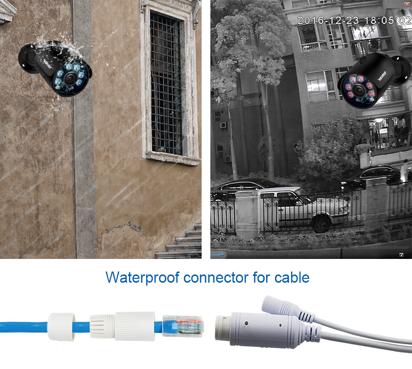 home camera system Smar H.265 8CH CCTV Surveillance Kit 2MP Security Camera System 4CH 8CH POE NVR With 1080P POE IP Camera Set Real Plug and Play (7)
