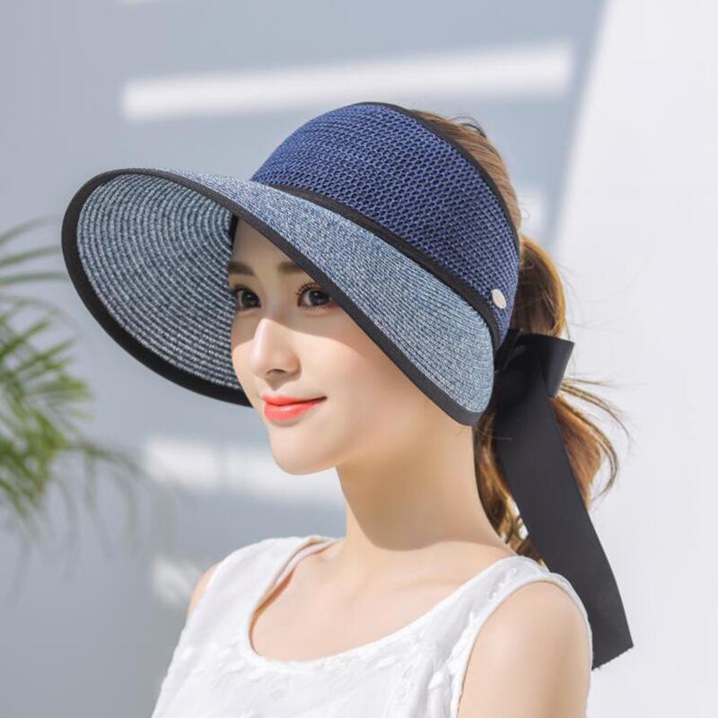 42fd4a022 Cheap Visera de sol sombreros de verano para mujeres plegable gran arco Uv  protección sombrero de