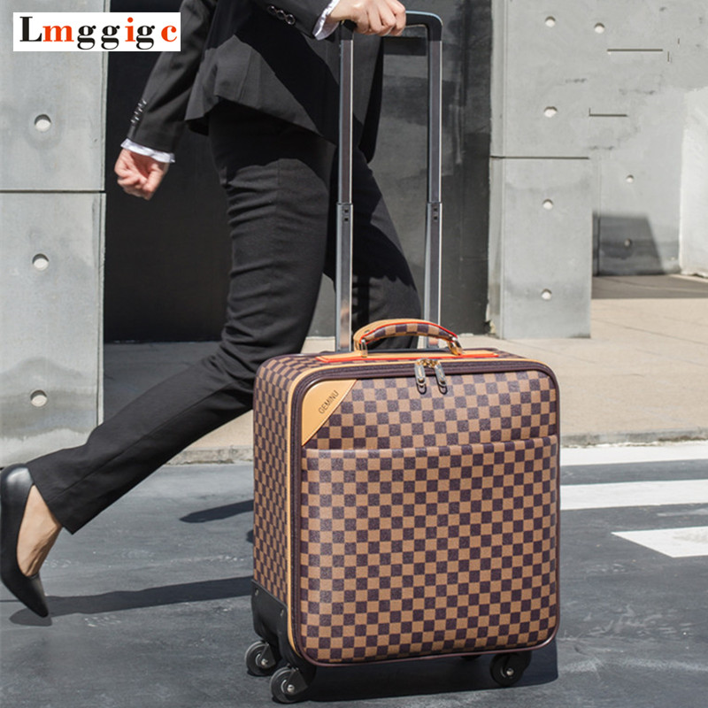 Women Classic Rolling Luggage,Men Travel Suitcase bag,wheels Carry-On ,High quality PU leatherm Carrier,Trolley case,drag box