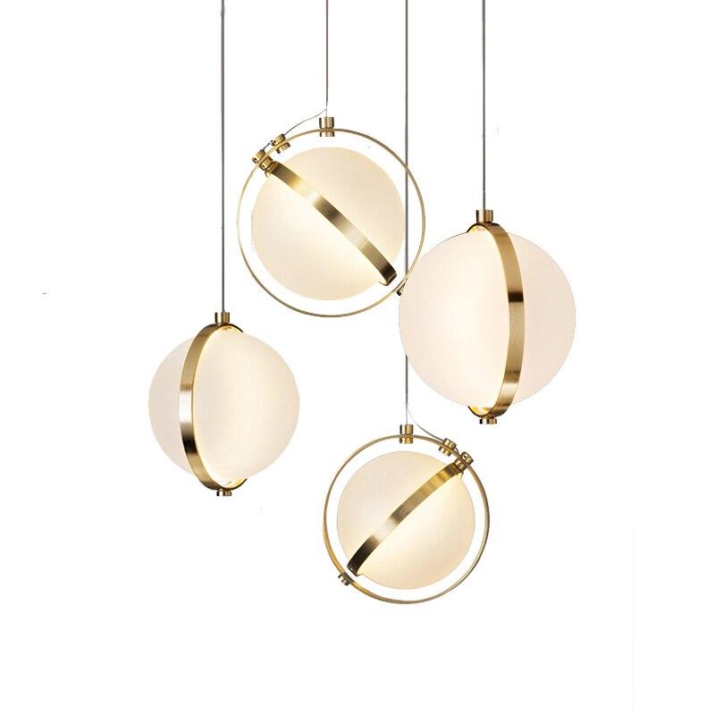 Скандинавский подвесной светильник s Глобус хромированная лампа стеклянный шар подвесной светильник Lustre подвеска кухонный светильник зак