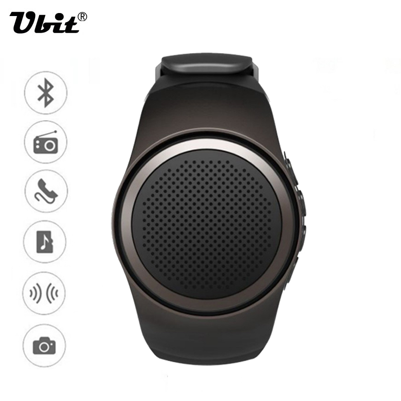 Ubit B20 Smart Watch With Self-timer Anti-Lost Alarm Music Sport Mini Bluetooth Speaker Support TF Card FM Radio Hands-free