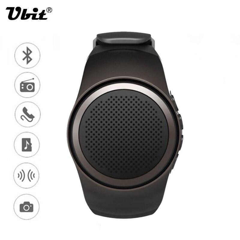 imágenes para Ubit b20 smart watch con disparador automático anti-pérdida de alarma de música del deporte mini altavoz bluetooth soporte de tarjeta tf fm radio manos libres