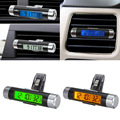 Portable 2in1 Car LCD Display Clip-on Temperature Time Auto Digital Backlight Clock Air Outlet Styling  YA398-SZ