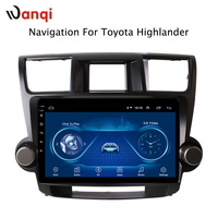 10.1 inch Android 8.1 2.5D Tempered HD Touchscreen Radio for Toyota highlander 2009 2014 with Bluetooth USB WIFI support SWC