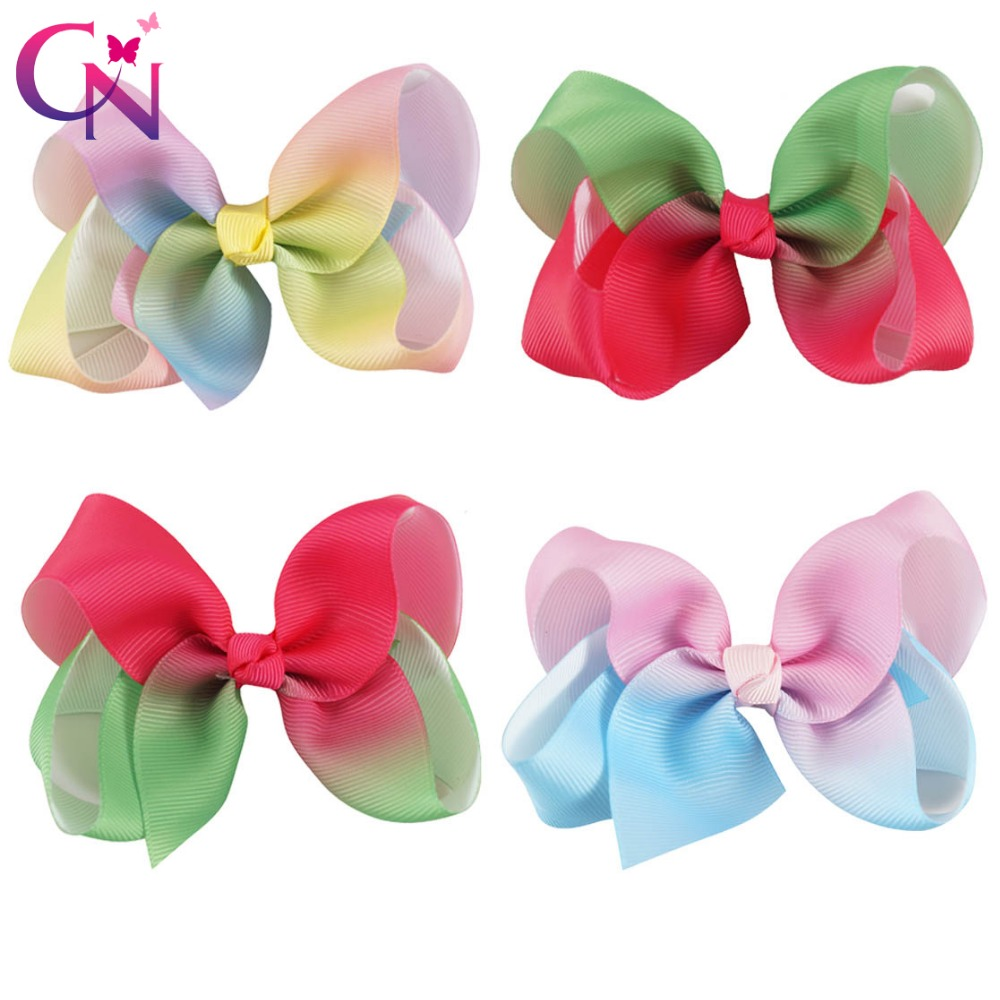 20 Pieces/lot 4 Patchwork Hair Bows With Hair Clips For Kids Girls Watermelon Grossgrain Ribbon Hair Bow Hair Accessories free shipping 4 4 size 430c pernambuco cello bow high quality ebony frog with shield pattern white hair violin parts accessories