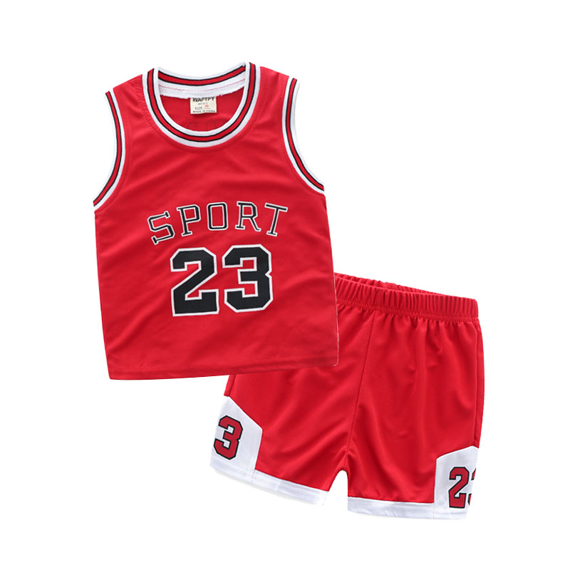Sportswear Set Sports Shirt Kids Basketball Jersey Kid Boys Basketball Clothes Sleeveless Breathable Suit Baby Boy Clothing Set libo breathable fitness sleeveless basketball suits for male