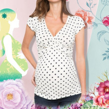 Свободная одежда, удобная Футболка для беременных, Женская Удобная футболка с коротким рукавом и принтом в горошек для кормления грудью, лето