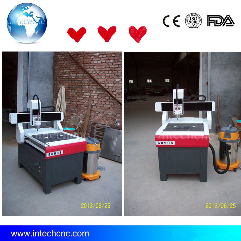 Cost Effective Intechcnc Vacuum Table 5 Axis Cnc Router 6090 Cnc Wood Carving Machine Mini Cnc Milling Machine