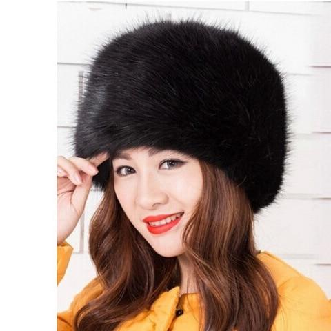 2018 Women Hats Lady Russian Tick Fluffy  Imitation Fox Fur Hat Headband Winter Earwarmer Ski Hat Female Hats For Autumn Winter Islamabad