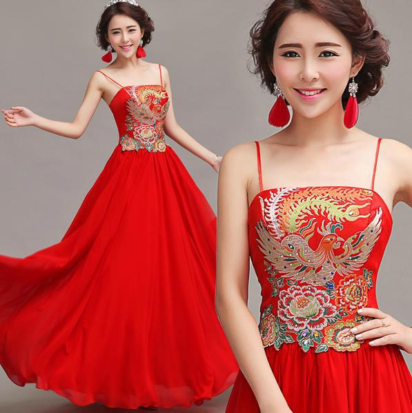 f37930b32 Fashionable New Red Bride long cheongsam dress chinese traditional dress  qipao Prom dresses 2015 evening dresses gown E173-in Cheongsams from  Novelty ...