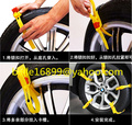 Free Ship 2015 new 5pcs/Set Auto Vehicle Wheels Antiskid TPU Chain Car Snow Tire Anti-Skid Chains Thickened Beef Tendon Size S