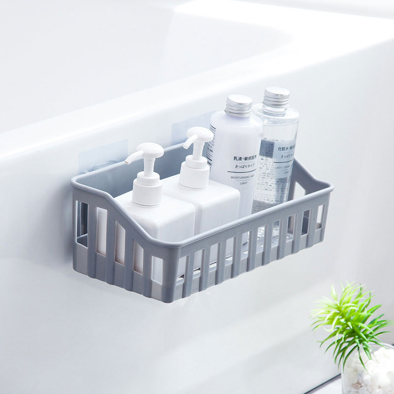 Bathroom Storage Rack Plastic Toilet Bathroom Vanity Wall Hanging Bathroom Storage Rack Basket Stickers Rack Bathroom Organizer
