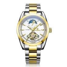 zegarki meskie High Quality star Tourbillon Automatic mechanical Watches Men Brand waterproof watch full steel watch Man Clcok