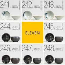 NO.241 ~ 264 Mate artesanal hecho a mano Puro juego de té de Alta calidad gruesa china de hueso de cerámica taza de té de cerámica de jingdezhen té kung fu taza