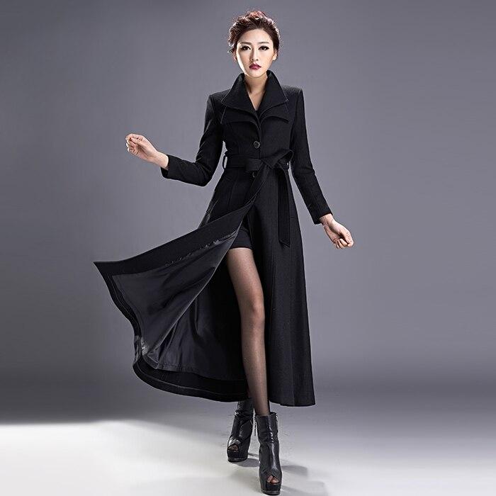 281f678b36 aeProduct.getSubject() Winter New Fashion Long Slim Wool Overcoat Double  Collar Trench Coat Women\'S Plus Size ...