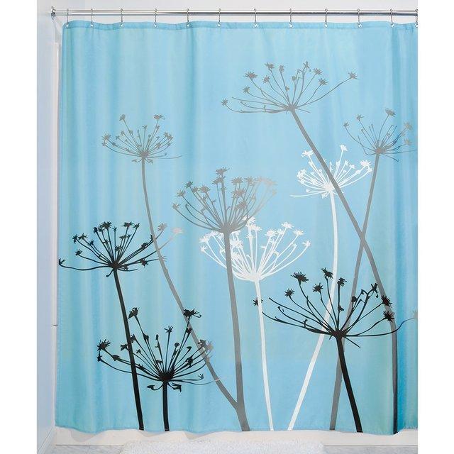 Black And White Dandelion Shower Curtain Printing Waterproof Mildewproof Polyester Fabric Bath Bathroom