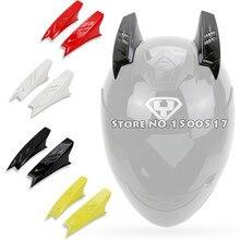 2Pcs Removable Helmet Horns For Marushin LS2 SHOEI Arai ICON Full Face Motorcycle Helmet Capacete Casco Casque Helmets DIY