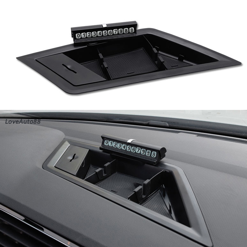 Car Dashboard Storage Box Multi-function Box Container Interior Stowing Tidying For Volkswagen VW Tiguan MK2 2017 2018 2019