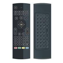 G20S hava fare 433mhz ses uzaktan kumanda ile jiroskop 2.4G RF klavye kablosuz X96 mini A95X H96 pro T9 Android TV kutusu