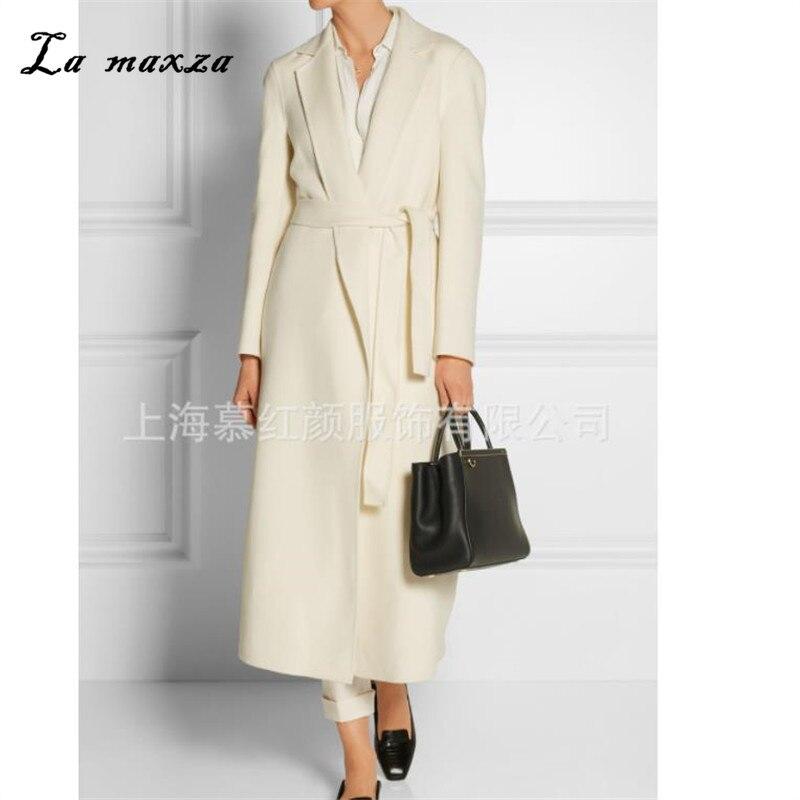 Women Winter Coat Wool 2018 Vintage Elegant Clothes Camel OL Fashion Outwear Long Coat Women Plus