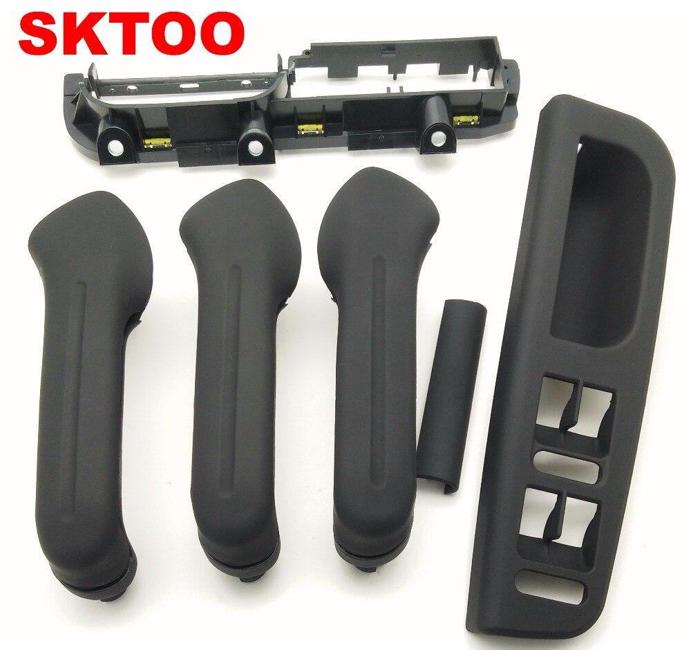 цена на SKTOO 6pcs black For VW Jetta Bora Golf 4 inner door handle / handle interior / inside arm / handle