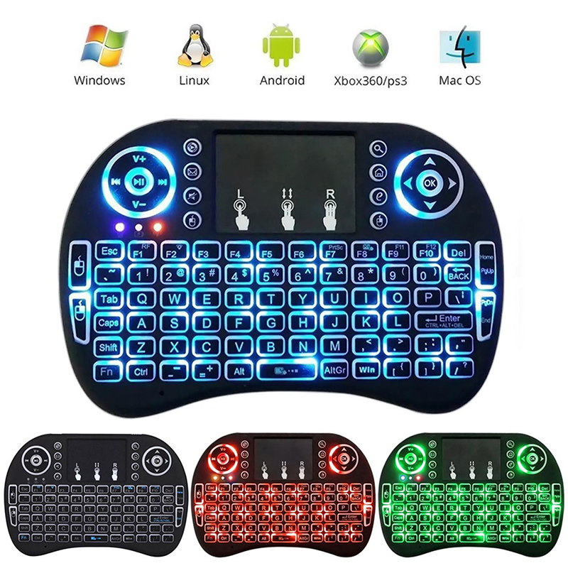 Backlight Mini i8 English Version Portable Mini Wireless Keyboard 2.4GHz Air Mouse Touchpad For Android TV BOX Laptop Backlit new ru for lenovo u330p u330 russian laptop keyboard with case palmrest touchpad black